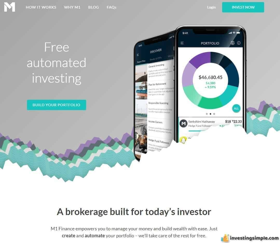 M1 Finance is a free automated investing platform.