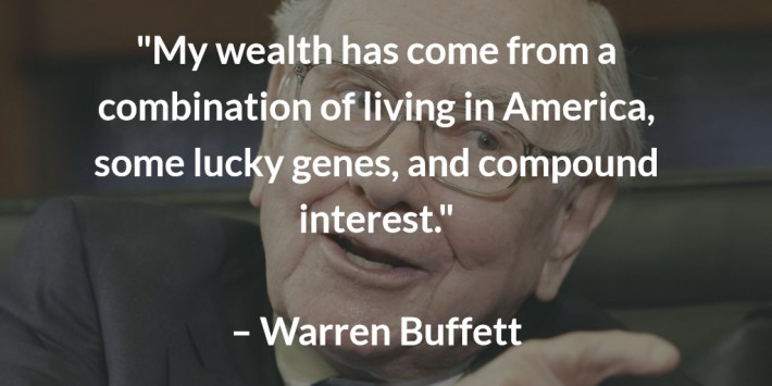warren buffett on the benefits of compound interest