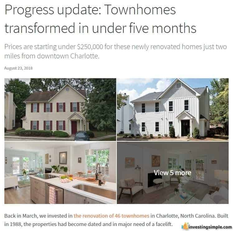 As a Fundrise investor, you will receive project updates like this on a regular basis.