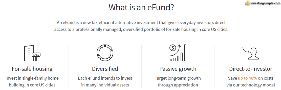Another investment vehicle offered by Fundrise is the eFund.