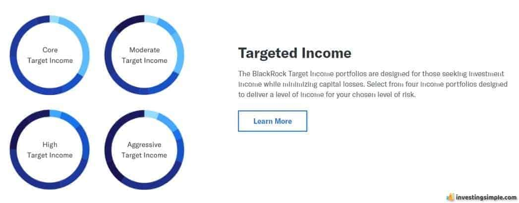 The Target Income portfolio offered on Betterment is designed for wealth preservation through 100% bond investment