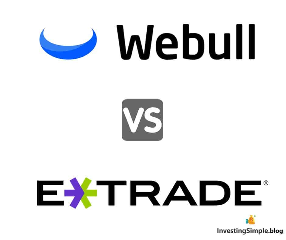 Webull vs eTrade review, stock market investing platforms.