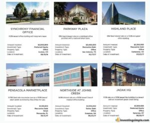 A collection of real estate projects you can invest in through Realty Mogul.