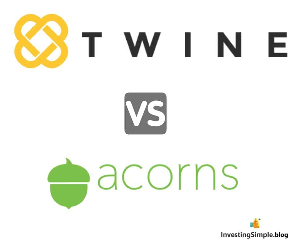 Twine vs acorns investing platforms. In this review we are going to outline the pros and cons of Twine vs Acorns saving and investing platforms.