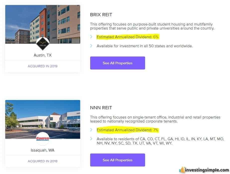 Anticipated returns of the Rich Uncles real estate investing platform.