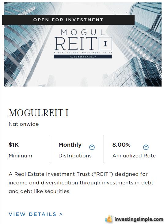 Realtymogul REIT I