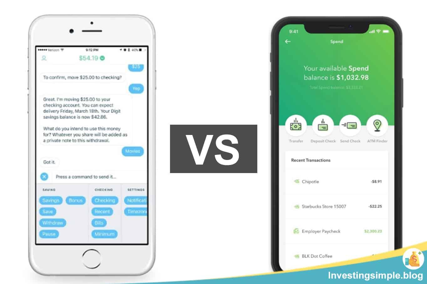 Digit vs Acorns 2021: Best Money App?