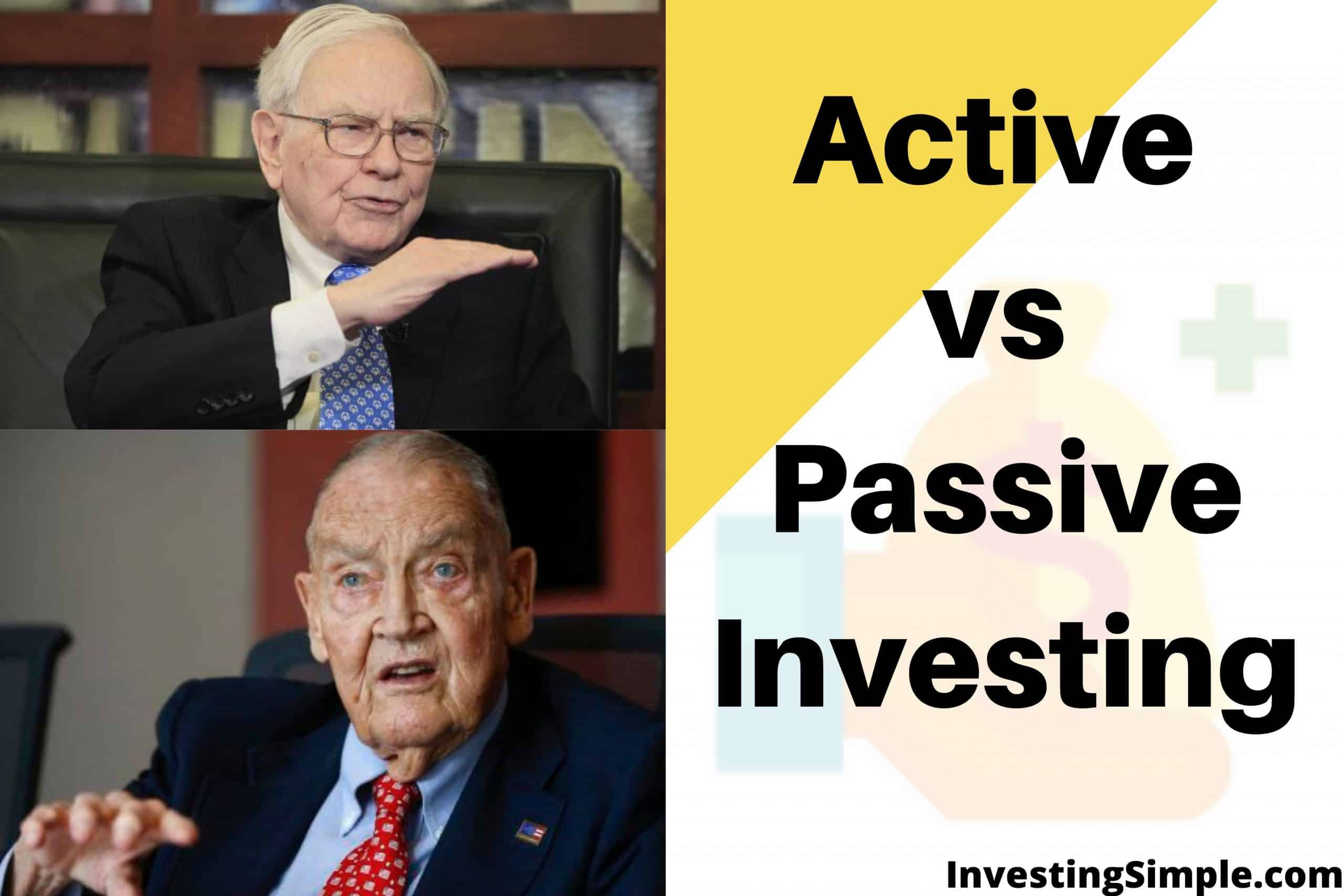 Active vs Passive Investing warren buffett and jack bogle