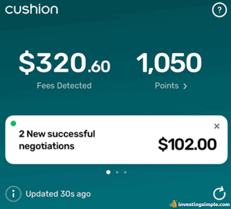 Cushion negotiates with banks and credit card companies on your behalf.