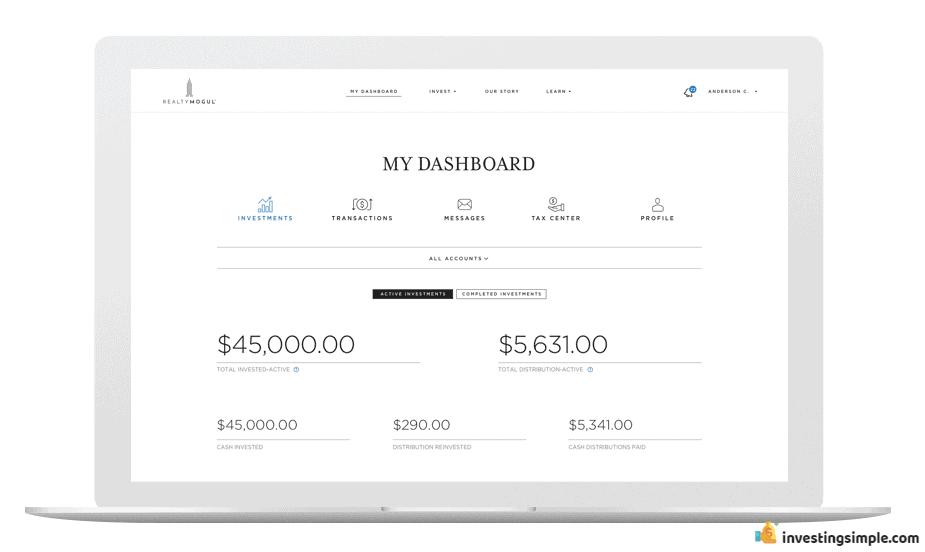 RealtyMogul Dashboard