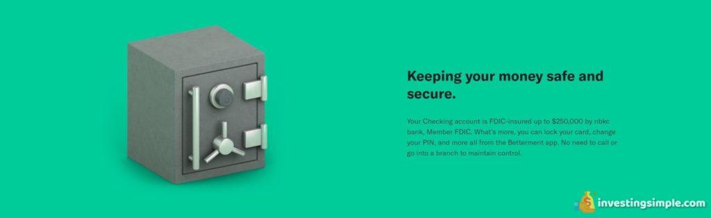betterment keeping money secure