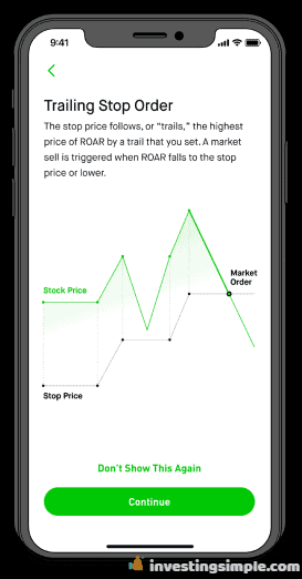 Robinhood commission free investing app in action