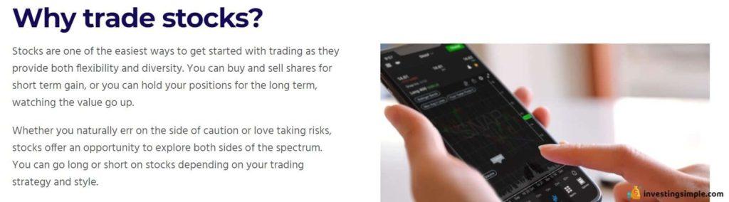 why trade stocks