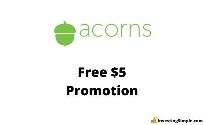 Acorns free promotion