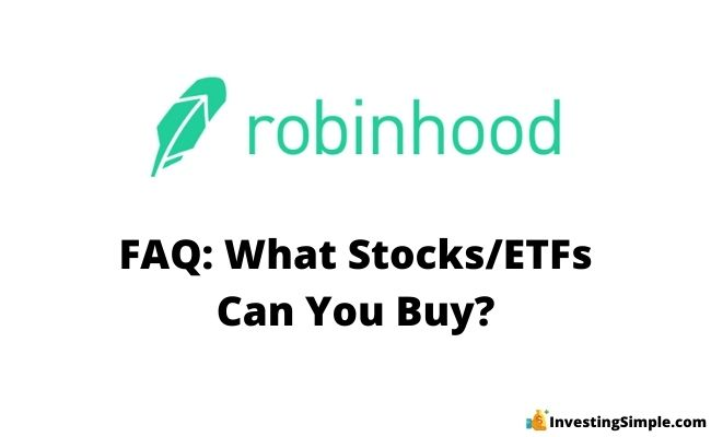 what stocks and etfs can you buy on robinhood