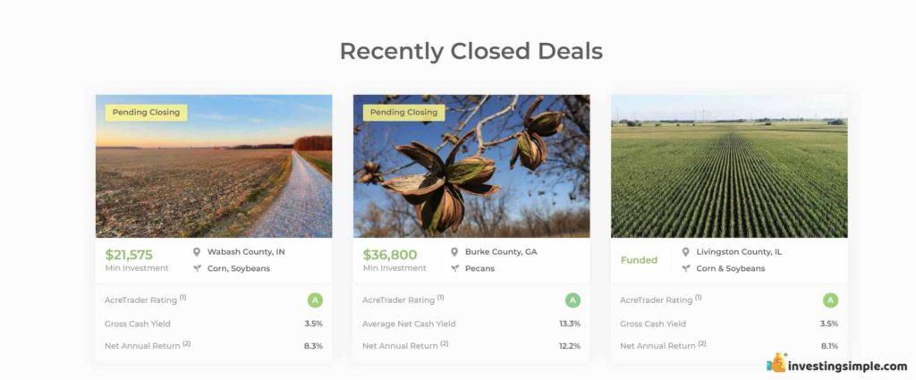 acretrader closed deals
