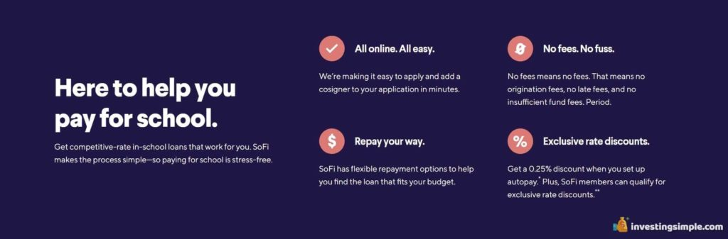sofi student loan help pay for school