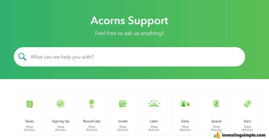 Acorns Support