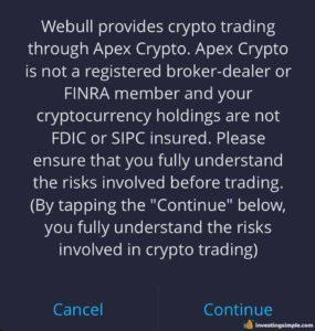 Buying Dogecoin on Webull