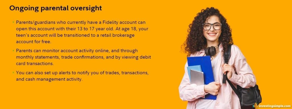 fidelity youth parent oversight