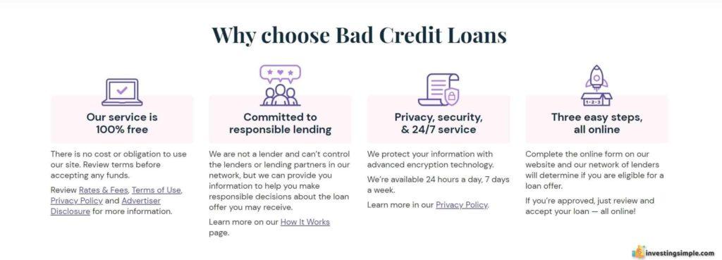 why bad credit loans