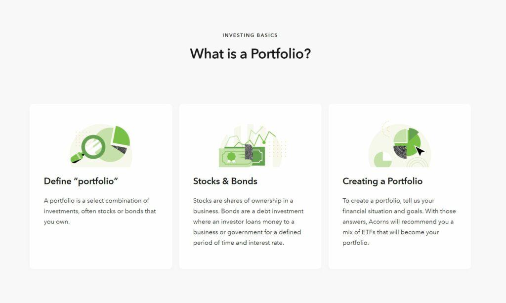 acorns investing portfolio