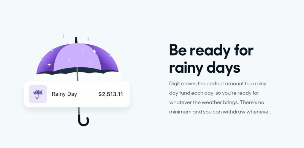digit rainy day