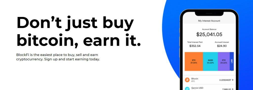 blockfi earn bitcoin