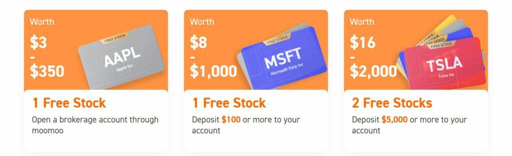 moomoo free stocks