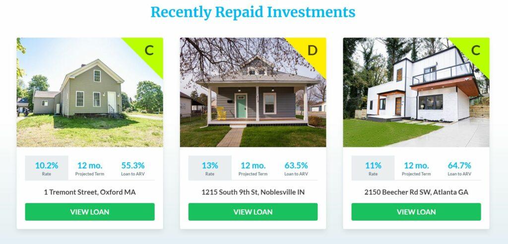 recent groundfloor investments