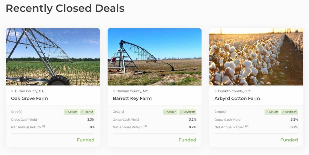 acretrader recently closed deals